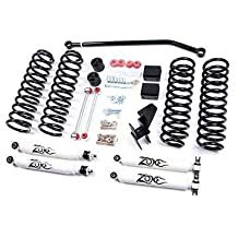 "Jeep 4"" JK Wrangler Unlimited Full Suspension Lift kit Zone Offroad 4 Door w/Black Nitro Shocks"