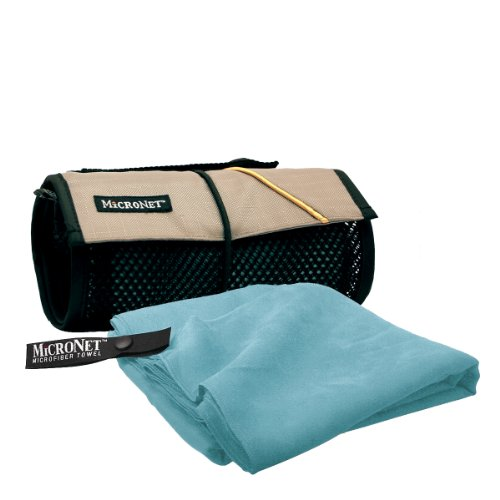 MICRONET Microfiber Towel,Sky Blue,X-Large Mcnett Microfiber Towel