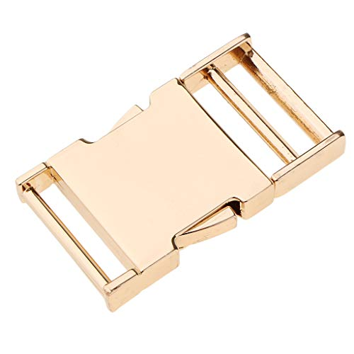 SM SunniMix DIY Metal Side Clip Buckle Fastener Webbing Quick Release Clock Closure Parts Supplies - Gold, Inner Diameter 25mm