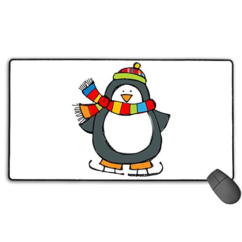 - Fall Winter Clipart Mouse Pad Stitched Edges 13.75