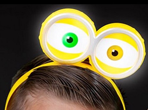 Light Up Flashing Yellow Eyeball Headband In The Style Of Minions - Tons of fun for that - Holidays July Strange In