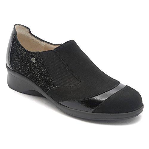 Finn Comfort Womens Edina Slip-On Black/Plata 7swG57t2I