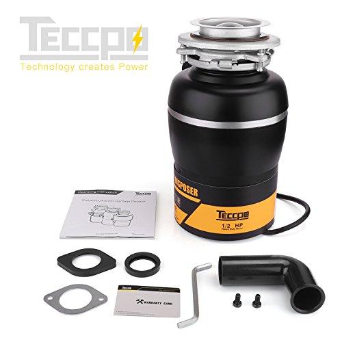 Garbage Disposal TECCPO 1/2 HP Disposal 38 oz. Capacity with Power Cord - TAGD01P by TECCPO (Image #7)