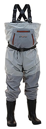 - Frogg Toggs Hellbender Breathable Bootfoot Chest Wader, Cleated Outsole, Slate Gray, Size 10