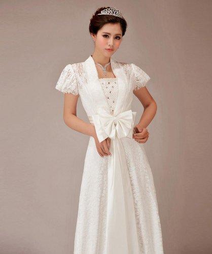 Kleidungen Schleppe A Elfenbein Damen Dearta Hof Ausschnitt Linie Brautkleider Spitze V Perlenstickerei Mit Schleife 5qTEw0
