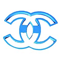 Cuticuter Chanel Logo Cookie Cutter, Blue