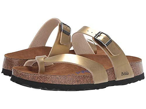 Birkenstock Betula Licensed Women's Mia Soft Metal Gold Birko-Flor¿ 37 N EU (Soft Sandals Gold)