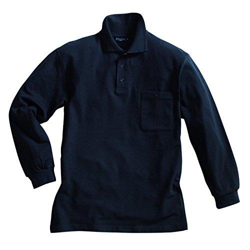PIONIER WORKWEAR Herren Poloshirt-Piqué langarm in marineblau (Art.-Nr. 2857) marine,Größe XXL
