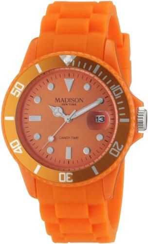 Madison Candy - Madison Candy Time Orange Dial Orange Silicone Unisex Watch U4167-04-1