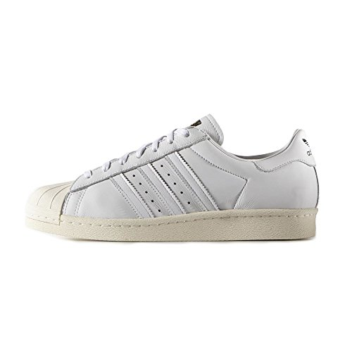 adidas - Superstar 80S DLX - S75016 - Color: White - Size: 7.0 (Star Dlx)