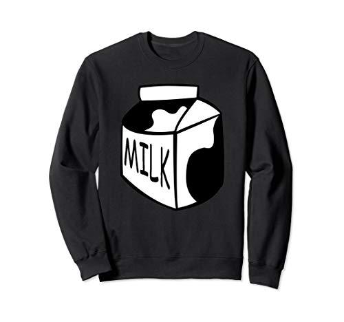 Funny Last Min Halloween Costume Milk Sweatshirt Big Top ()