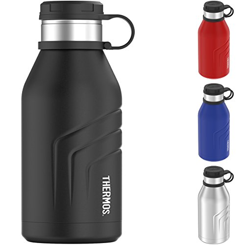 Thermos Element 5 Vacuum Insulated 32 oz Beverage Bottle with Screw Top Lid, Black by Thermos
