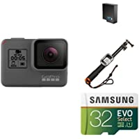 GoPro HERO5 Black w/ Battery, Selfie Stick and Memory Card