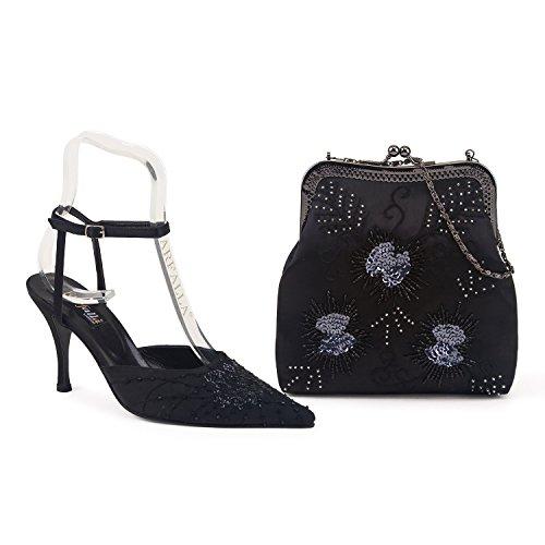 y negro juego de Farfalla lujo bolso a zapatos wg47XCqxX