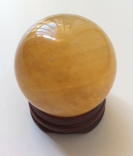 Natural Citrine Crystal Sphere Ball 1.4