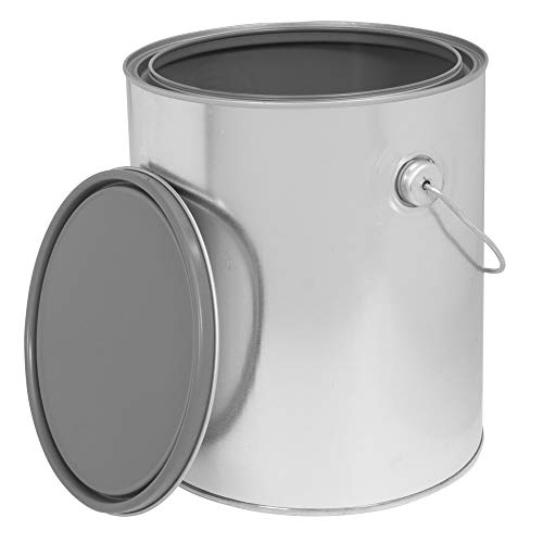 (Empty Metal Paint Can Epoxy Lined with an Epoxy Lined Double Friction Lid & Carrying Handle 1 Gallon Size (1 Paint Can))