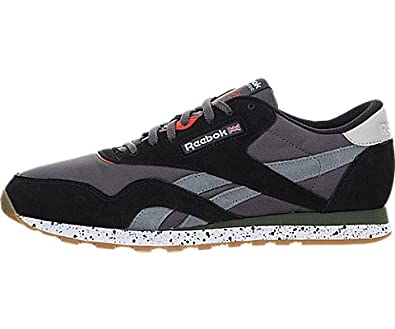 0b67bb0d92389 Reebok Men s CL Nylon OE Fashion Sneaker Ash Grey 7.5 ...