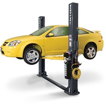 Lift 2 Ceiling Low Post (BendPak XPR-9S 9,000 Lb. 9,000 Lb. Floor Plate Short Two Post Lift)