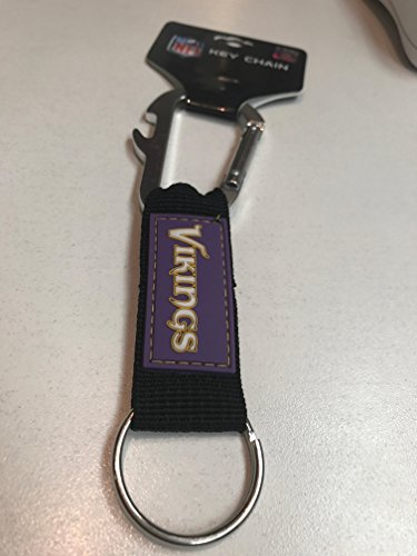 NFL Minnesota Vikings Carabineer Keychain, Purple, One Size (Ring Minnesota Vikings)