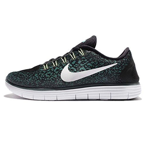 Nike Mens Free RN Distance Running Shoe Black/Pure Platinum 8