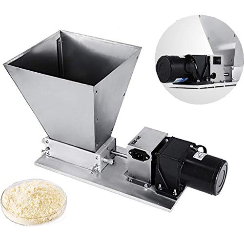 rain Mill Homebrew Electric Barley Grinder 40PRM Malt Crusher Mill with 11LBS Hopper for Grains Barley Grinding (2 Roller) ()