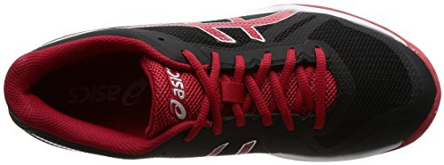 ASICS Women's Gel-Tactic, Black/Prime RED, 24 cm