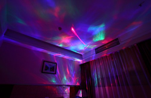 Soaiy Sleep Soother Aurora Projection Led Night Light Lamp