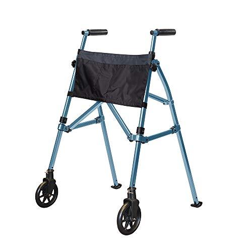 Stander Height Adjustable & Foldable Walker – 3.4 kgs Lightweight – Sturdy – Swivel & Stationary Wheels – Easily…