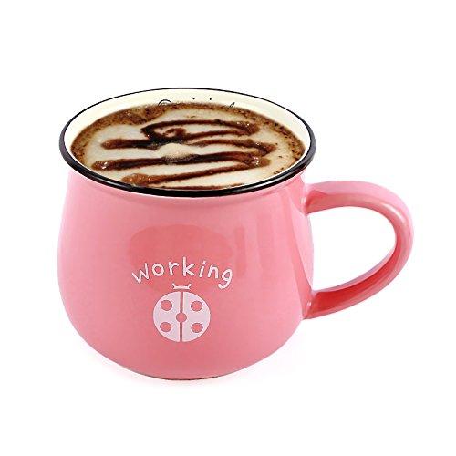 Neolith Pink Mugs with Random Animal Pattern Novelty Coffee Mugs Tea Mug Gifts Box Interesting Finds Animal Coffee Mug Milk Mug Cute Kids Cups Mom Wife Girlfriend Coffee Mug (12 oz, PaleVioletRed)