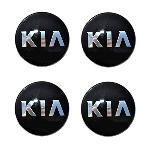 Kia Motors OEM Genuine 529603W200 Center Hub Wheel Cap Cover Emblem 4-pc Set For 2014 2015 Kia Optima : The New K5 ()