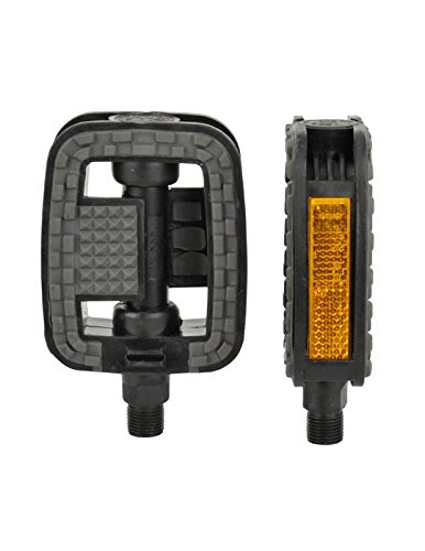 Fischer Adult Tour Plastic Non-Slip Pedals Black One Size