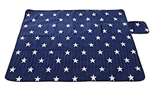 Amazon.com: GaoMiTA Outdoor Camping Flannel Blue and White ...