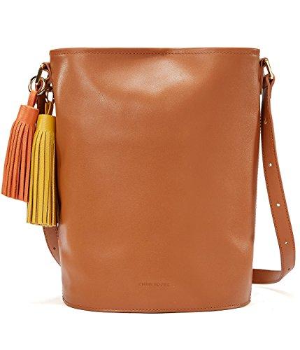 EMINI HOUSE Influencer Chic Bucket Shoulder Bag with Tassels Women Handbag-Brown (Best Dating Profile Descriptions)
