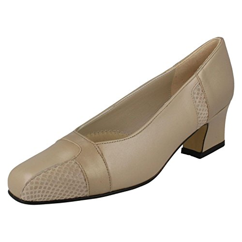 Nil Simile Ladies Arizona Narrow Fitting Court Shoes Sirena Pearl/Stone Pearl/Sirena Flamingo (Beige)