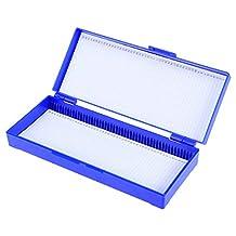 UKCOCO Microscopio Caja de portaobjetos Caja de Cortes biológicos Patología biológica Casete de Cortes de plástico (Azul Marino)