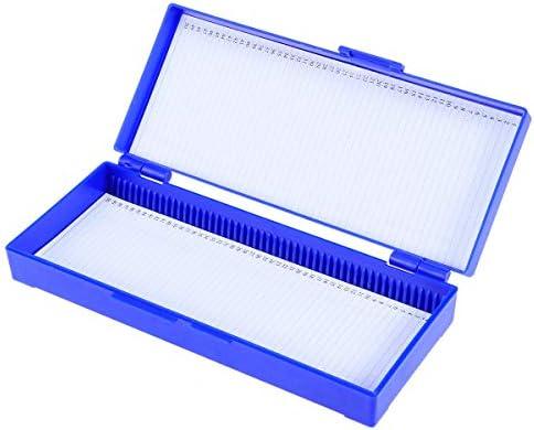 Hemobllo Mikroskop Objektträger Box Bio Slice Box Biologische Pathologie Kunststoff-Slice-Kassette (Navy)
