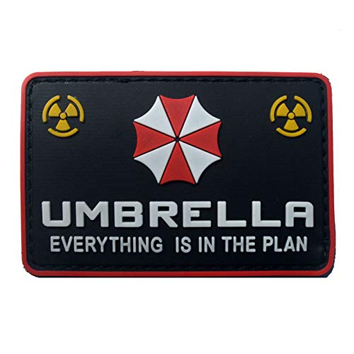 Nice Resident Evil Series Umbrella Corporation Pvc Badge Rubber Badges 3d Patch Applique For Clothing Cap Accessories Arts,crafts & Sewing