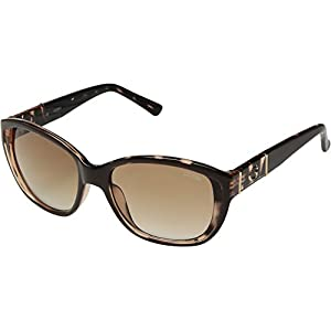 GUESS Women's Acetate Square Sunglasses, Brn-34, 56 mm