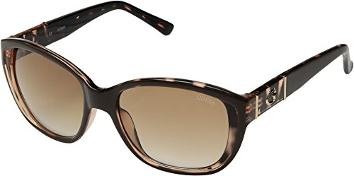 GUESS Women's Acetate Square Sunglasses, Brn-34, 56 - Sunglass Case Guess