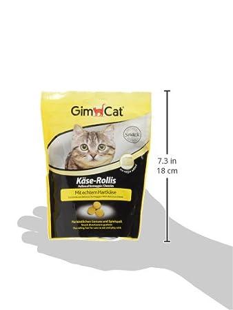 GimCat circulitos de queso , Aperitivo para gatos rico en vitaminas, con auténtico queso de pasta prensada , 1 ración (1 x 140 g): Amazon.es: Productos para ...