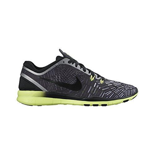 Nike Women's Free 5.0 Tr Fit Black/Volt/Metalic Silver 704695-017 (Size: 5) by Nike (Image #2)