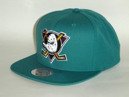 MITCHELL & NESS NHL MIGHTY DUCKS ANAHEIM GREEN LOGO SNAPBACK CAP
