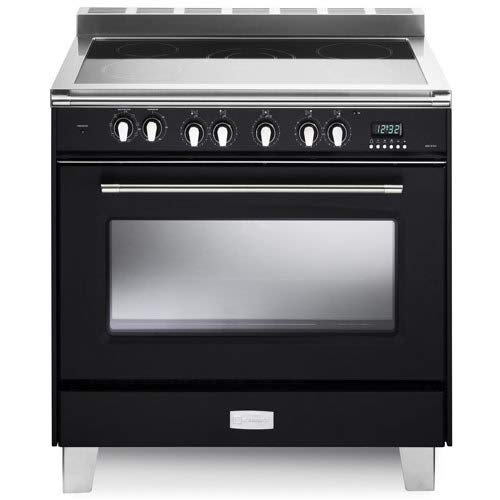 Verona VCLFSEE365E 36″ Classic Series Electric Freestanding Range with 5 Burners Matte Black