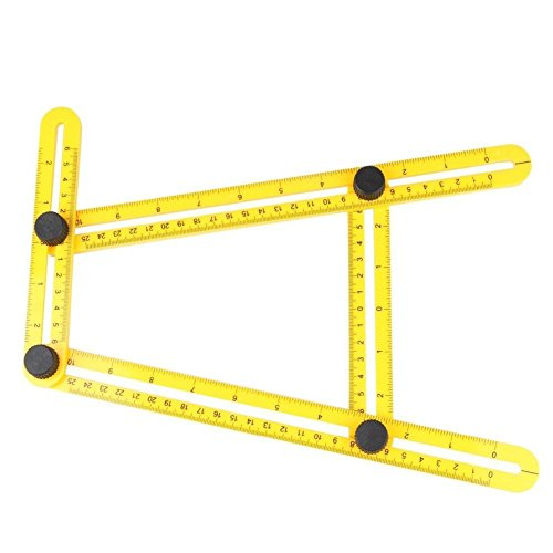 EGGO Universal Multi Angle Measuring Ruler | Angleizer Template Tool - Four Folding Ruler/Layout Measurement Tool For Handymen, Builders, Craftsmen, Carpenters, DIY-ers (Folding Layout)