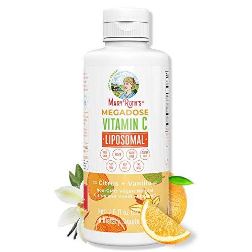 Megadose Vitamin C Liposomal by MaryRuth's (Citrus + Vanilla) 500mg | Enhanced Absorption Liquid Vitamin C | Immune…