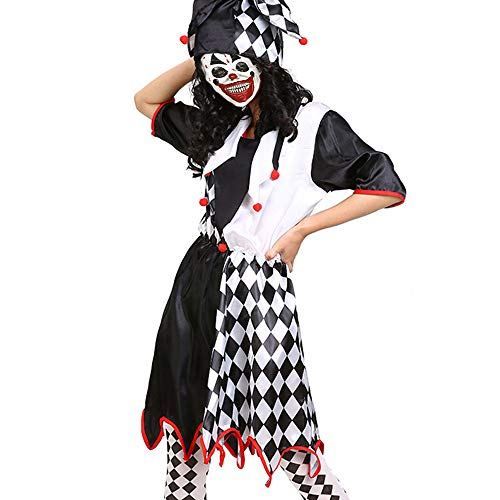 Scary Female Jester Costumes - Pinklover Scary Killer Clown Costume Women's
