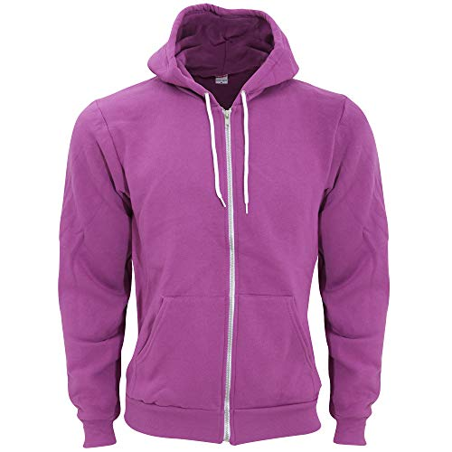 (American Apparel Unisex Flex Plain Full Zip Fleece Hoodie (XL) (Dark Orchid))