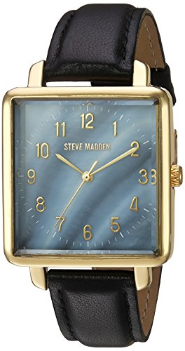 Steve Madden Women's Quartz Gold-Tone Casual Watch, Color:Black (Model: - Warehouse Promo Uk Code