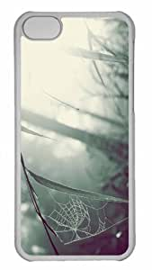 Customized iphone 5C PC Transparent Case - Spider Web 3 Personalized Cover by mcsharks