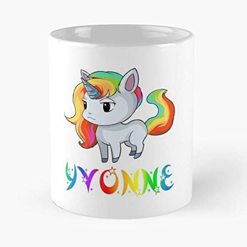 Yvonne Unicorn Present Gift Funny Floral Coffee Mugs Gifts